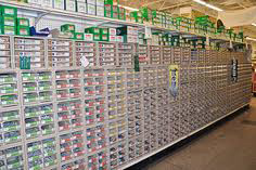 A wide selection of fasteners