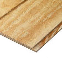 Grooved plywood siding